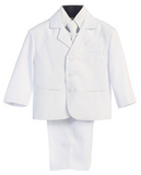Lito 5 Piece White first  Communion or Christening  suit with  shirt , vest , and Tie size 9-12 months