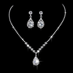 Bridal Prom Jewelry Necklace Set - Little N Kute Boutique
