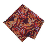 Men's Paisley  Banded Bow Tie, Matching Hanky & Lapel Pin Set - Little N Kute Boutique