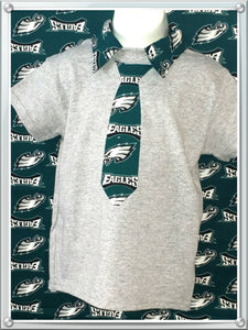 Handmade BOYS Eagles Polo shirt personalized Shirt - Little N Kute Boutique