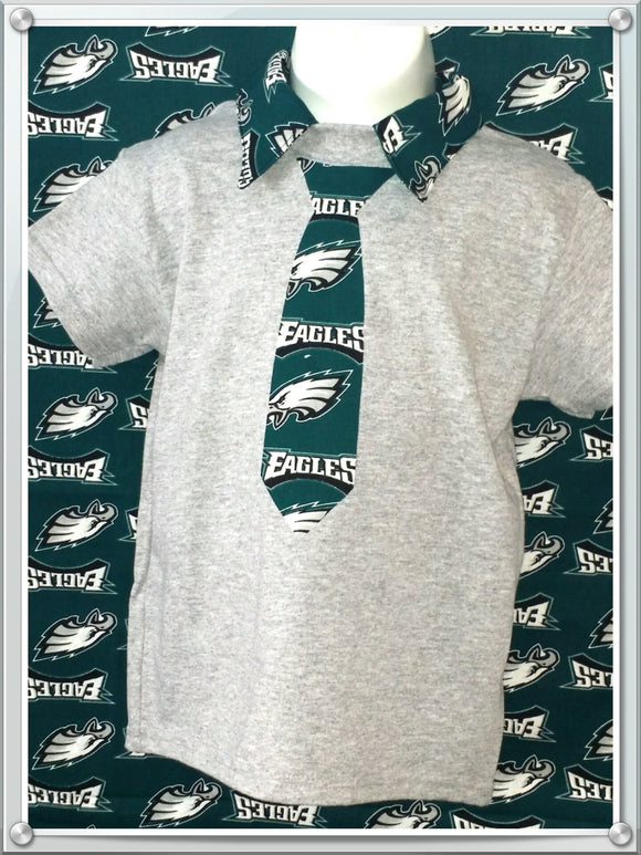 Handmade NFL BOYS Eagles Polo shirt personalized Shirt - Little N Kute Boutique