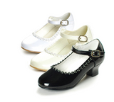 Flower Girls Rhinestone Detailed Patent Heel Shoes GS-003 - Little N Kute Boutique