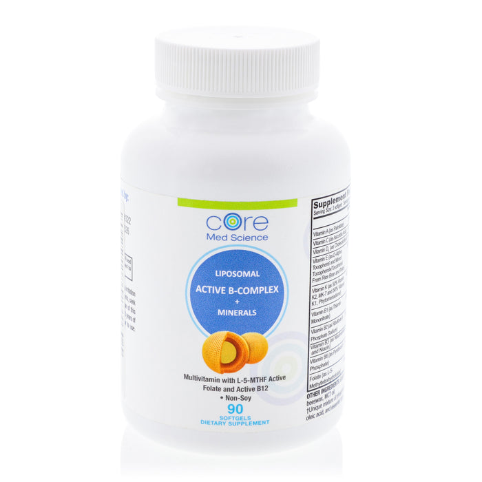 Liposomal Multivitamin with Active B-Complex, Minerals, and Antioxidants – Non-GMO – Made in USA – 30 Day Supply