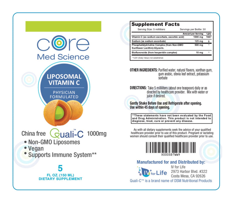 Liposomal Vitamin C Sunflower Formula – Gold Standard Quali®-C Vitamin C from Scotland – Non-GMO – Made in the USA – cGMP -Thirty 1000mg Servings