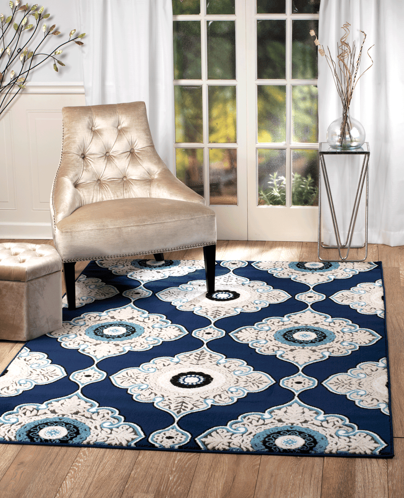 New Chatham #11 Blue / Cream Traditional Area Rug – Buy Rite Rugs IL25