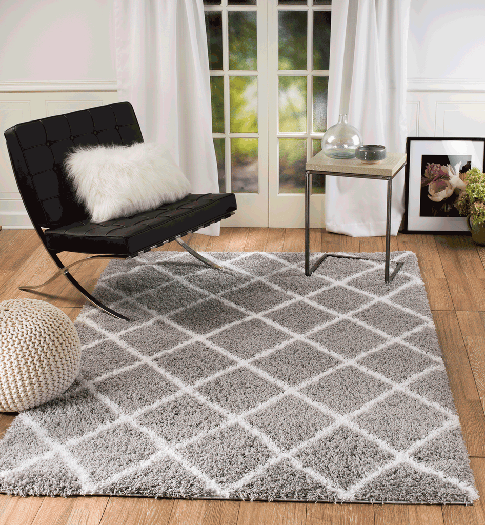 contemporary rug ottomanson ft area solid p gray shag rugs x