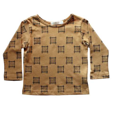 Mink Squares Long Sleeve Tee