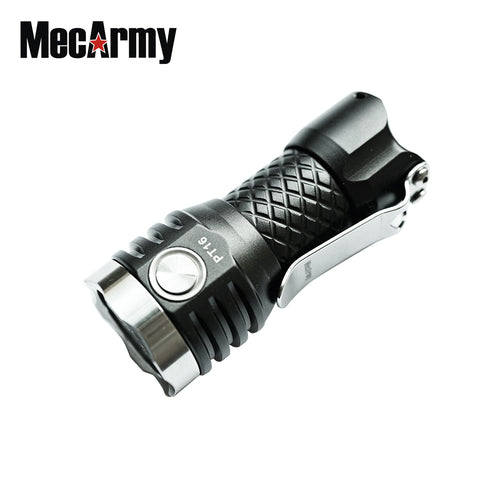 MecArmy PT16 Aluminum Rechargeable 16340 Compact 1000 Lumens LED Flashlight