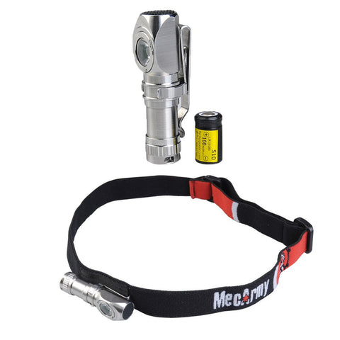 FM11 Stainless Steel Pocket LED Flashlight Headlamp - MecArmy USA