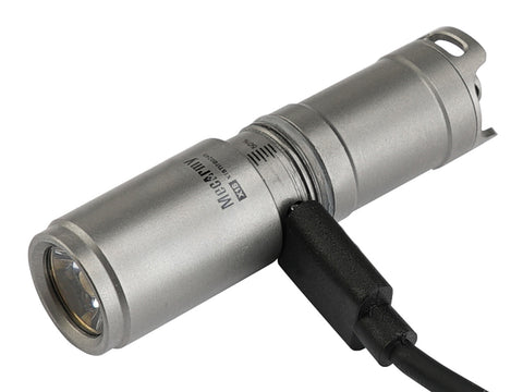 MecArmy X1S 130 Lumen 1 x 10180 CREE XP-G2 LED Flashlight - Sandblasted - MecArmy USA
