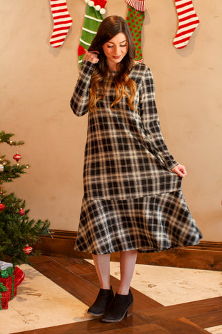 Claire Plaid Swing Dress