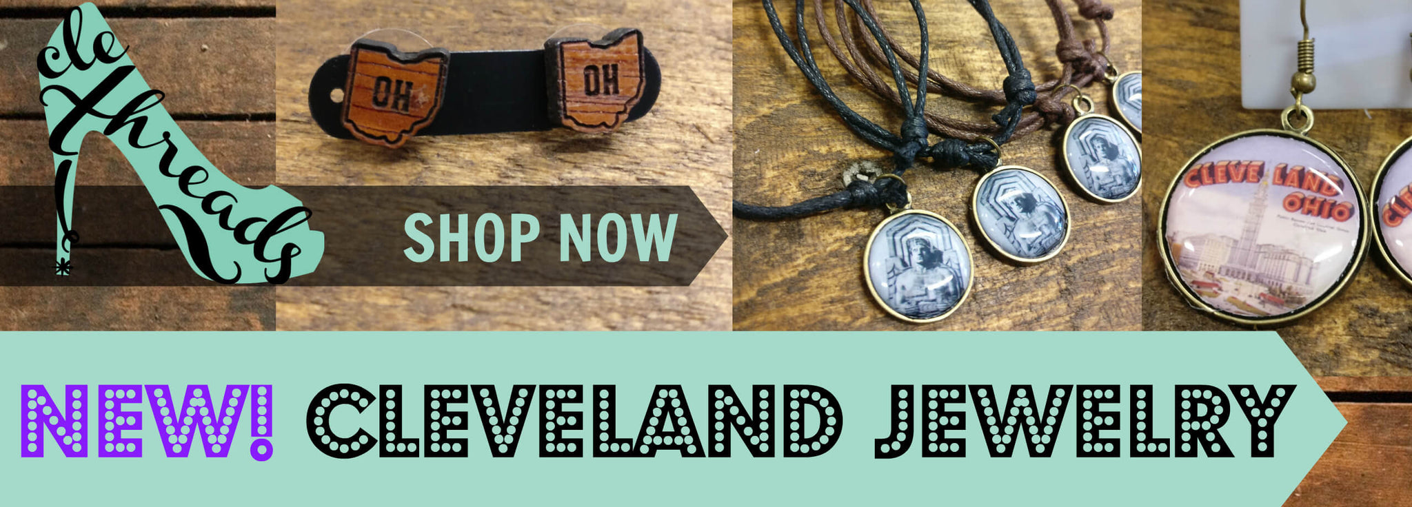 CLE Threads Cleveland Jewelry Collection by City Buddha Banner