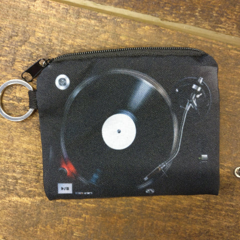 Turntable Jams Zipper Change Pouch Front