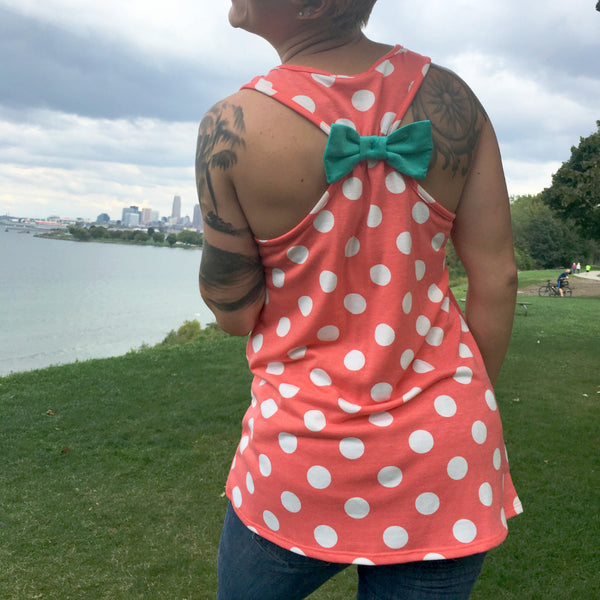 Polka Dot Bow Tank Top CLE Threads New