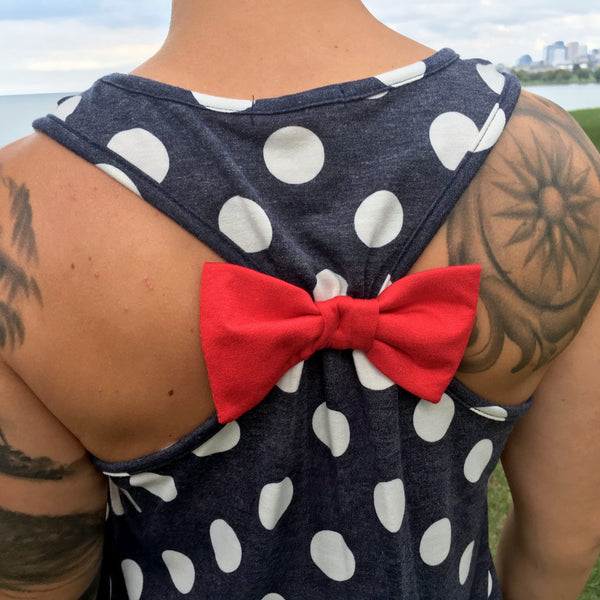 Polka Dot Bow Tank Top CLE Threads New Close