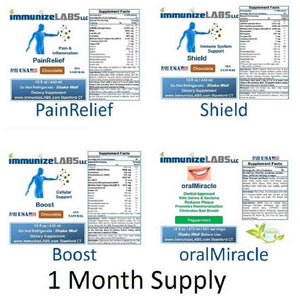 Kit3 (1 PainRelief, 1 Shield, 1 Boost, 1 Oral Care) $35 Off + FREE shipping