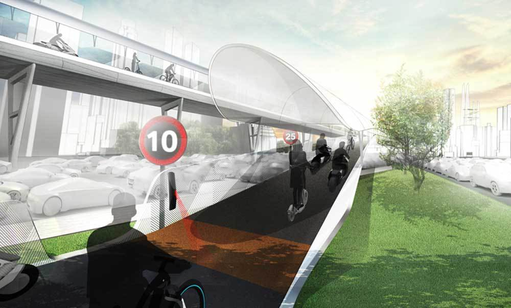 BMW and Shanghai University Design Elevated Highways for E-Bikes