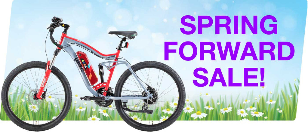 Spring Forward Sale on Electric Bike, Trikes, and Scooters