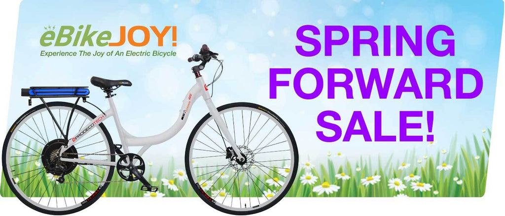 Spring Forward Sale on Awesome E-Bikes!