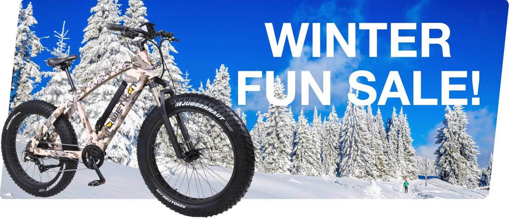 Winter Fun Sale on Electric Bikes and Scooters