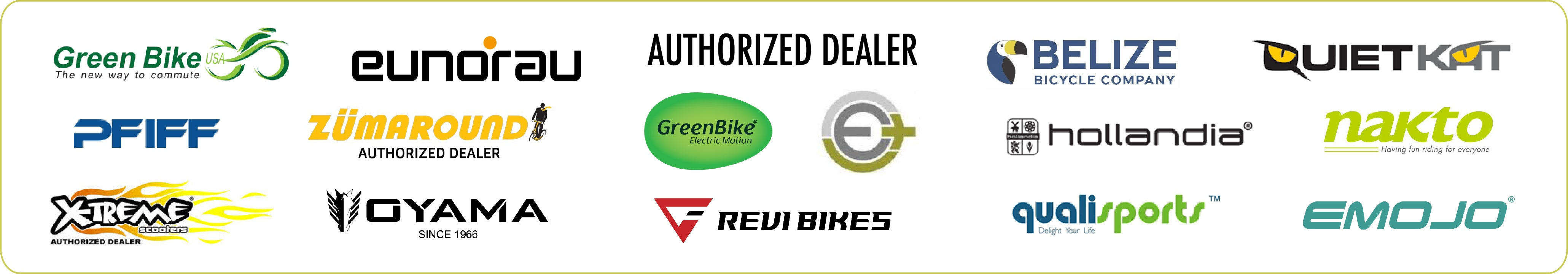 electric bikes, trikes and scooter brands