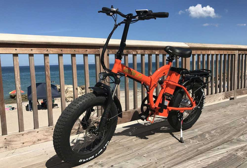 green-bike-USA-GB500-orange-electric-bike-side
