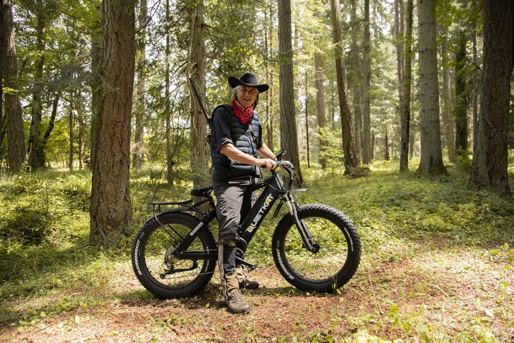quietkat electric bike in backcountry