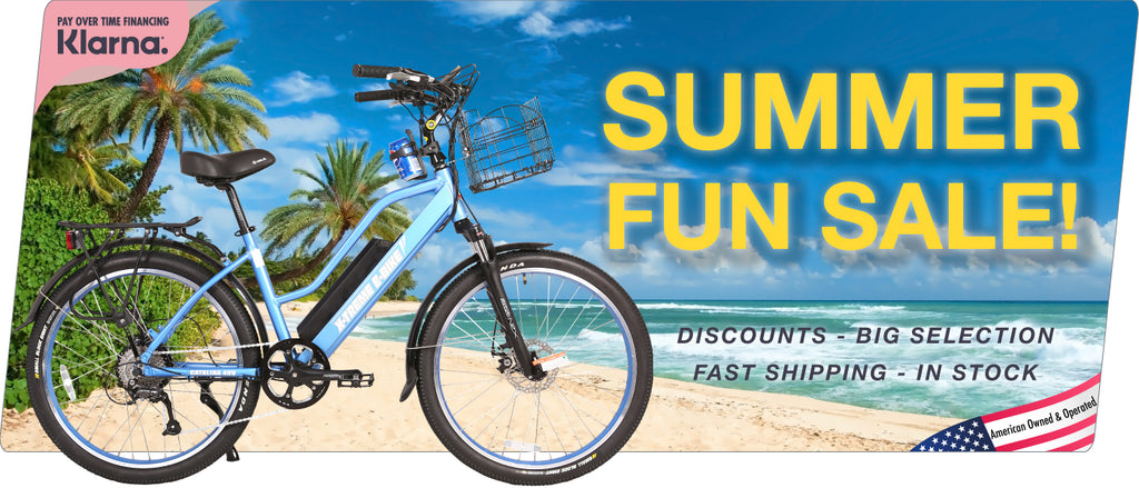 summer fun sale on electric bikes and scooters