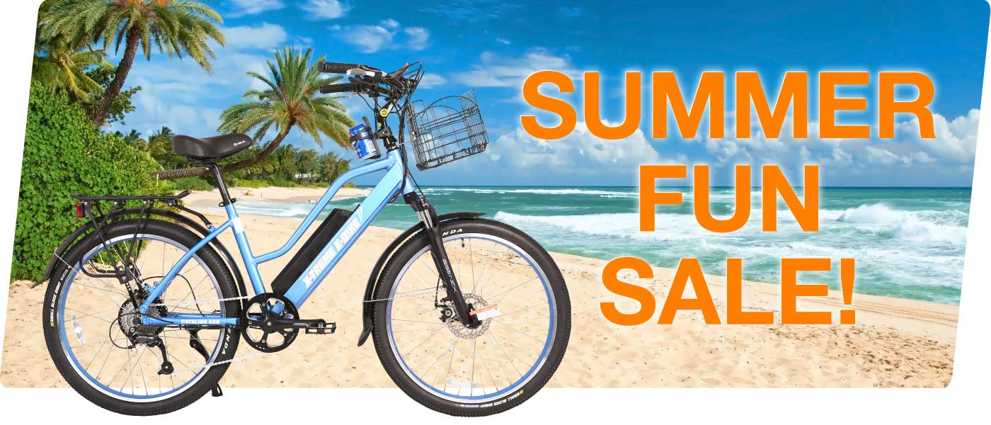 Summer fun sale on electric bikes
