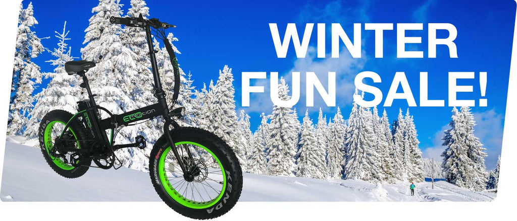 winter fun sale on electric bikes