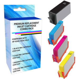 eReplacements C2N92A-ER Remanufactured Ink Cartridge Replacement for HP 920XL High Yield Black-Cyan-Magenta-Yellow Combo Pack