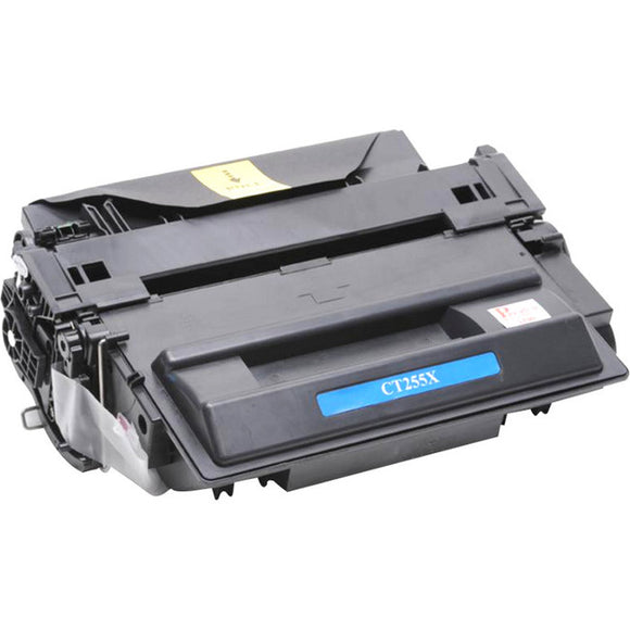 eReplacements CE255X-ER New Compatible Toner Cartridge - Alternative for HP (CE255X) - Black