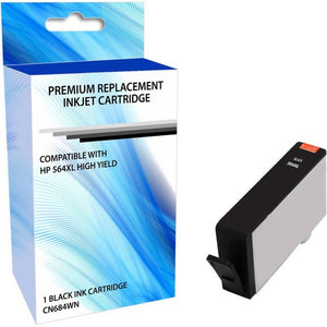 eReplacements CN684WN-ER Remanufactured High Yield Ink Cartridge Replacement for HP 564XL Black Ink