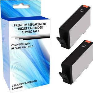 eReplacements CR302BC-ER Remanufactured High Yield Ink Cartridge Replacement for HP 564XL Black Ink 2 Pack