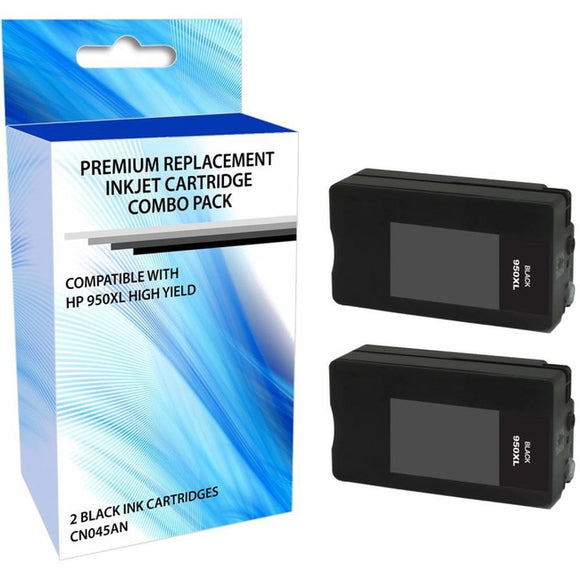 eReplacements CR317BN-ER Remanufactured High Yield Ink Cartridge Replacement for HP 950XL Black Ink 2 Pack