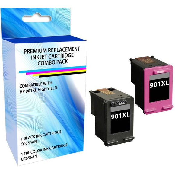 eReplacements CZ722FN-ER Remanufactured Ink Cartridge Replacement for HP 901XL High Yield Black-Tricolor Combo Pack