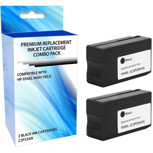 eReplacements F6T96BN-ER Remanufactured High Yield Ink Cartridge Replacement for HP 934XL Black Ink 2 Pack