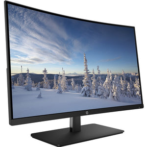 "HP 27b 27"" Full HD Curved Screen LED LCD Monitor - 16:9 - Black"