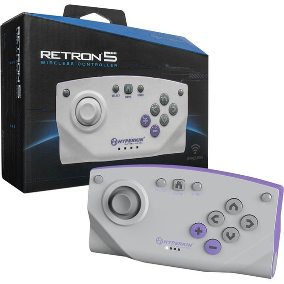HYPERKIN Bluetooth Wireless Controller for RetroN 5 (Gray)