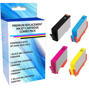 eReplacements N9H60FN-ER Remanufactured High Yield Ink Cartridge Replacement for HP 564XL Black-Cyan-Magenta-Yellow Ink Black-Color Combo Pack