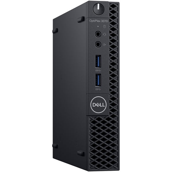 Dell OptiPlex 3000 3070 Desktop Computer - Core i3 i3-9100T - 8 GB RAM - 128 GB SSD - Micro PC