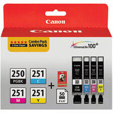 Canon Ink Cartridge - Combo Pack - Pigment Black, Magenta, Yellow, Cyan