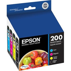 Epson DURABrite Ultra 200 Ink Cartridge - Cyan, Magenta, Yellow, Black