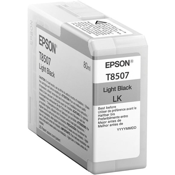 Epson UltraChrome HD T850 Ink Cartridge - Light Black