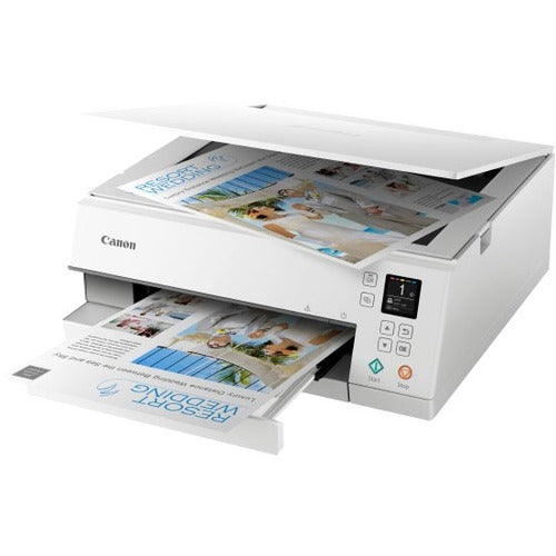 Canon PIXMA TS TS6320 White Inkjet Multifunction Printer - Color
