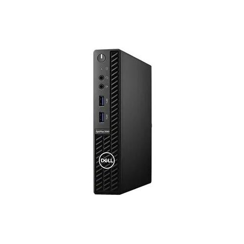 Dell OptiPlex 3000 3080 Desktop Computer - Intel Core i3 10th Gen i3-10100T Quad-core (4 Core) 3 GHz - 4 GB RAM DDR4 SDRAM - 128 GB SSD - Micro PC