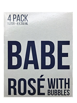 Babe Rose With Bubbles 4 Pack Can