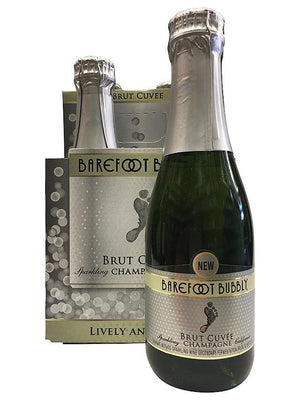 Barefoot Bubbly Brut Cuvee 187ml 4 Pack