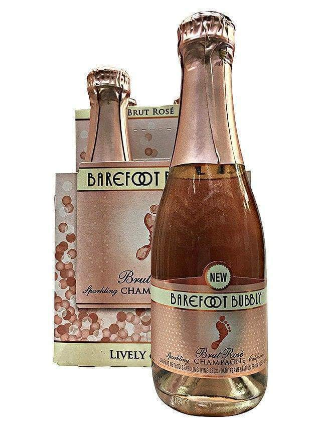 Barefoot Bubbly Brut Rosé Mini 187ml 4-Pack