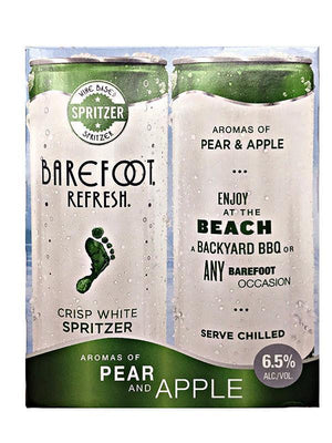 Barefoot Refresh Crisp White Spritzer Cans 4 Pack (OLD IMAGE)